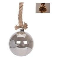 Glazen bal met 30 LED's - 15cm - jute touw 100cm  Alleen de…