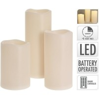 LED kaarsen - geschikt voor buiten - met timer - set van 3…