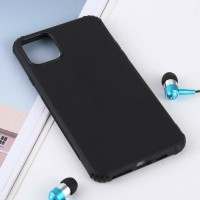 Solid Color TPU Shockproof Case for iPhone 11 Pro Max(Black…