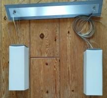 Hanglampen melkwitte glazenkappen in hoogte verstelbaar