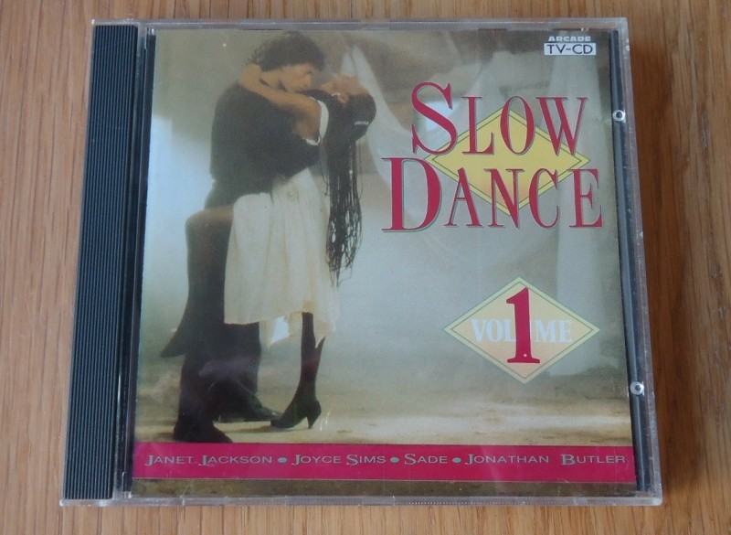 "De originele verzamel-CD ""Slow Dance Volume 1"" van Arcade."
