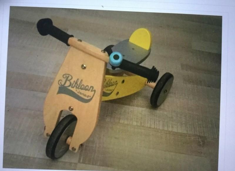 Janod houten kinder loop fietsje