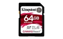 SDCARD Kingston Canvas React SD Class10 64GB