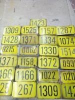 Diversen nummerplaten