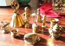 Koperen letterbak miniatuurtjes