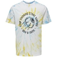 Only & Sons Tie Dye T-Shirt Stop Thinking WitKledingmaat :…