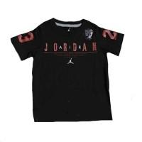 Kids Air Jordan T-shirt Zwart RoodKledingmaat : 116-122