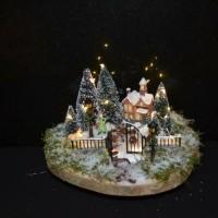 Winter tafereel met verlichting 6