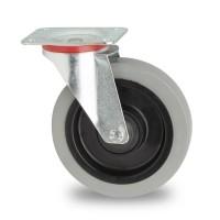 Zwenkwiel grijs 160 x 45 mm plaatbevestiging