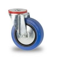 Zwenkwiel blauw 125 x 36 mm vzv boutgat bevestiging