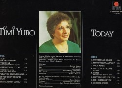 TimiYuro LP (sings Willie Nelson), Today, nst, (p) 1981