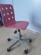 Roze bureaustoel