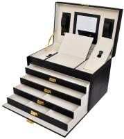 Luxe sieradenbox met spiegel (30,5x19,5x20)  Alleen deze we…