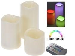 Kleurveranderende LED-kaarsen met afstandsbediening - set v…