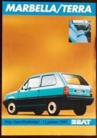 Prijs/Specificatielijst - SEAT Marbella/Terra - 1995