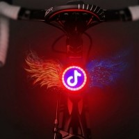 USB Charging Red Blue Color Riding Light Rear Lamp Safety W…