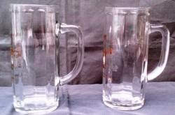 2 bierpullen Frankenheimer Altbier,glas, 0,4 l tapmaat,Nieu…