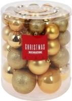 Kerstballenset - 44 stuks plastic - goud  Alleen deze week…