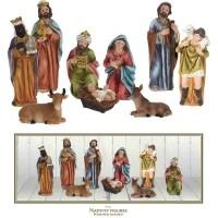Kerststalfiguren 9-delig  Alleen deze week 10% extra kortin…