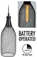 Hanglamp - draad - met timer - 31x12 cm  Alleen deze week 1…