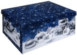 Opbergdoos kerst blauw  Alleen deze week 10% extra korting
