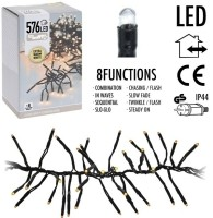 Clusterverlichting - 576 LED - 4m - extra warm wit  Alleen…