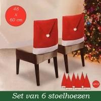Kerst Stoelhoezen - 6 stuks  Alleen deze week 10% extra kor…