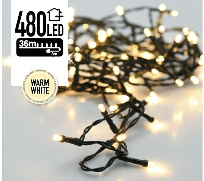 LED-verlichting 480 LED's 36 meter warm wit  Alleen deze we…
