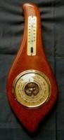 baro-/thermometer, eiken montuur,jr'60, 33.5 cm, nieuwstaat