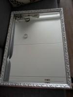 Spiegel zilverkleurig barok