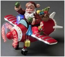 Kerstman in vliegtuig  Alleen deze week 10% extra korting