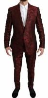 Dolce & Gabbana Bordeaux MARTINI Floral Silk 3 Piece Suit I…