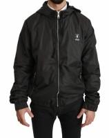 Dolce & Gabbana Gray DG Running Zipper Hooded Sweater IT56…