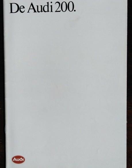 Folder - De AUDI 200 -1987