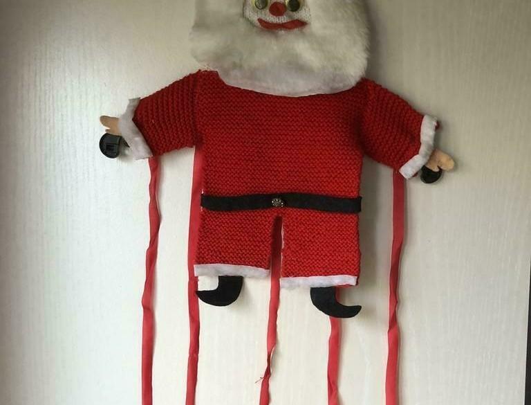 Vintage 2x Kerstkaartenhangers hand gemaakt mag ook per stu…