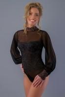 Rosy Zwarte Body met Goud Maat: S