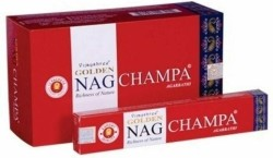 Nag Champa Golden Agarbathi — 5 voor €6,-