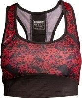sport BH  Flowers-zwart-rood-XS