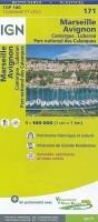 Fietskaart 171 Marseille Avignon Aix en Provence Luberon Ca…