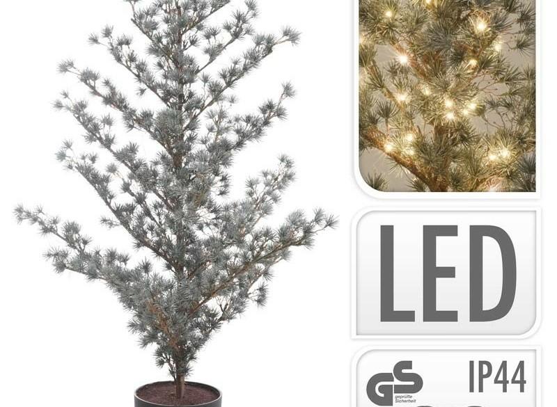 Kerstboom 125cm - met verlichting - in pot  Alleen deze wee…