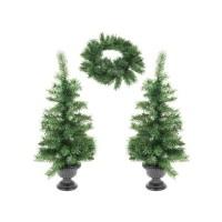 Kerstbomen en kerstkrans met LED - set van 3 stuks  Alleen…