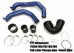 S55 Blauwe Charge Pipe + Boost pipe BMW M3 M4