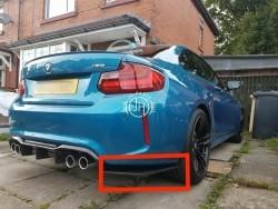Carbon bumper splitter BMW F87 M2 M2 Competition
