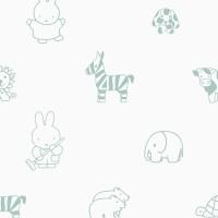 Nijntje Behang -  dieren, groen