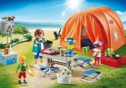 Playmobil 70089 Family Fun Kampeerders met tent