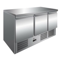 #AANBIEDING# Gastro-Inox RVS koelwerkbank met 3 deuren - 20…