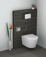 Toiletrolhouder  inbouw voor  toilet rvs