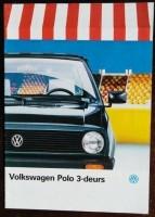 Folder/brochure - Volkswagen Polo 3-deurs 1987