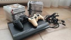 PlayStation 3 met 2 controllers en 19 spellen