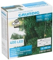Lichtsnoer koper 400 LED - warm wit - 8 functies  Alleen de…